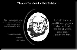 Thomas Bernhard Homepage